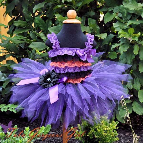 Black and Purple Halloween Tutu
