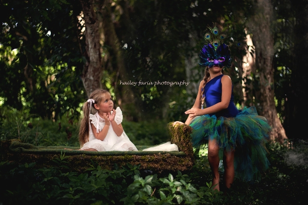 Baby and Toddler Peacock Bustle Tutu