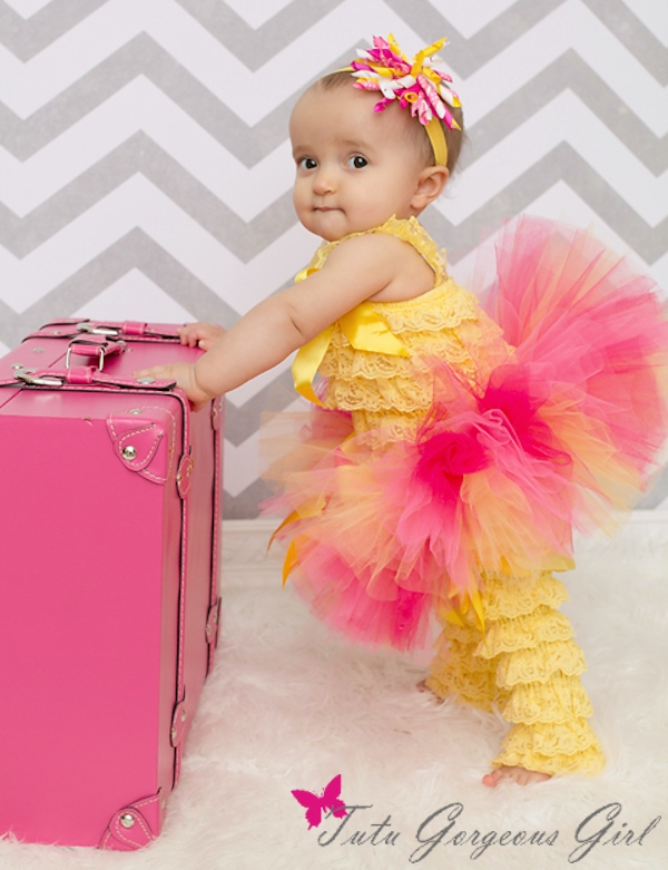 Hot Pink and Yellow Tutu