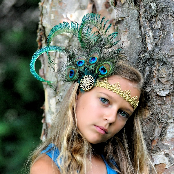 Flapper Style Peacock Headpiece