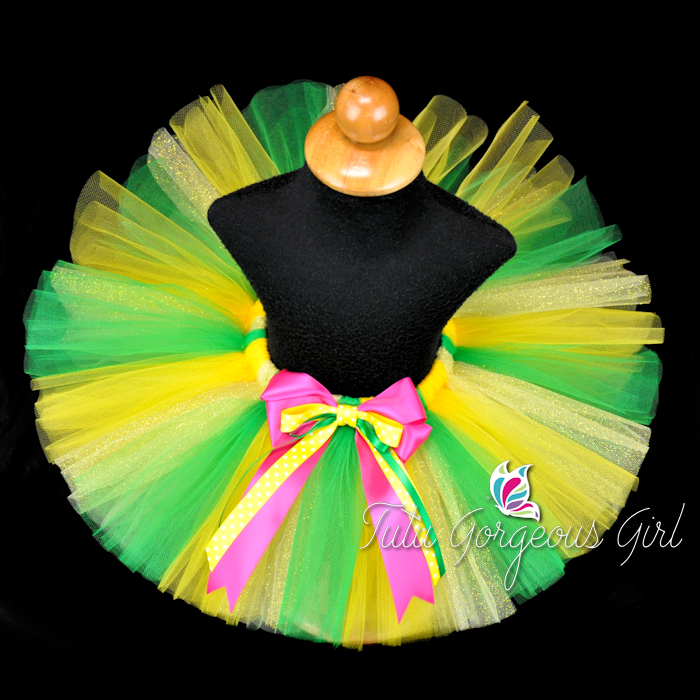 Yellow and Green Pineapple Tutu