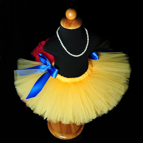 Red and Yellow Bustle Tutu