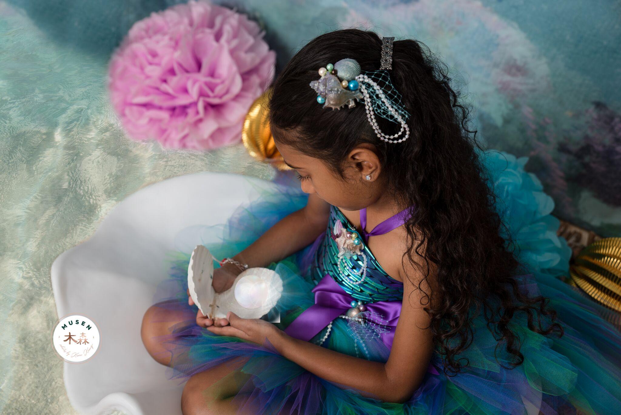 Girls Mermaid Costume Tutu Set