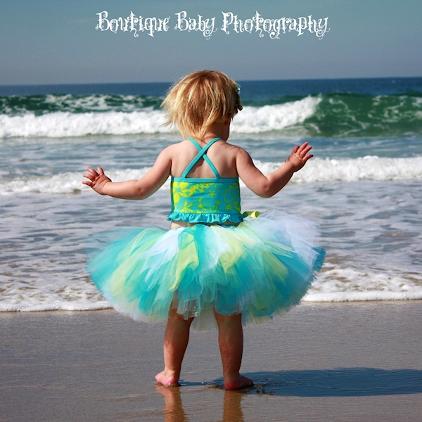 Summer Breeze Blue and Yellow Tutu