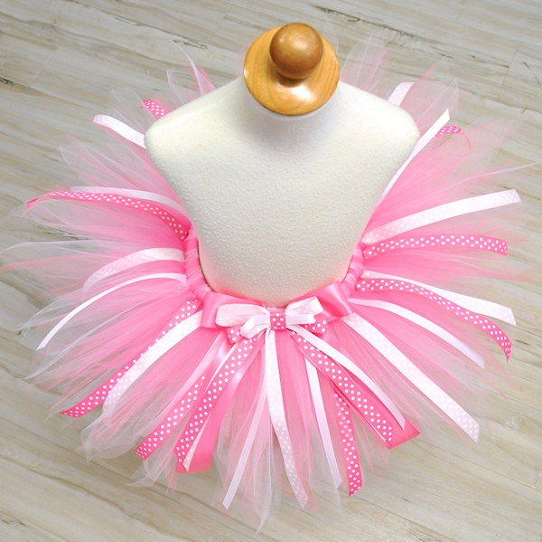 Pink Birthday Princess Ribbon Tutu