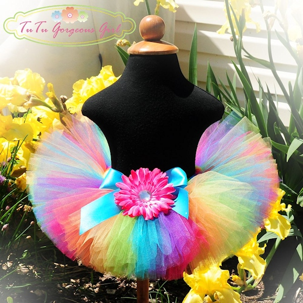Candy Rainbow Birthday Tutu