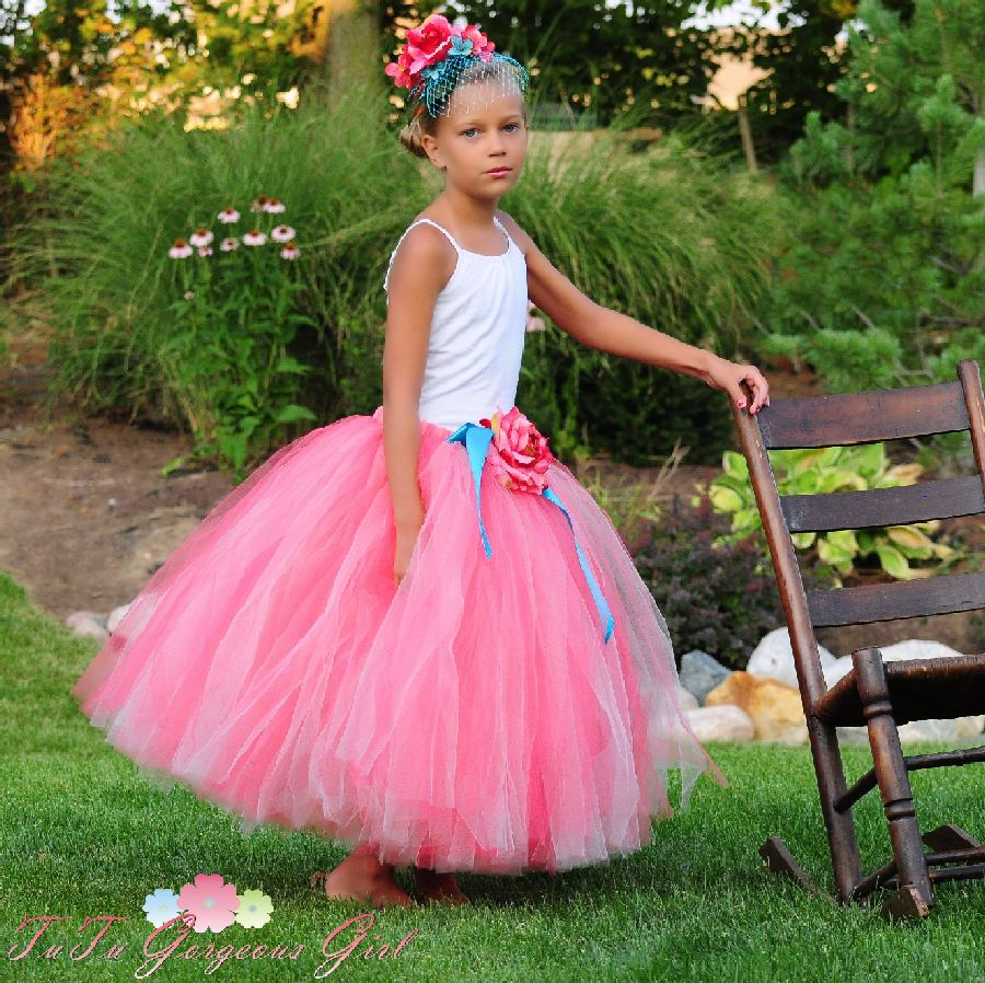 Coral Princess Flower Girl Tutu