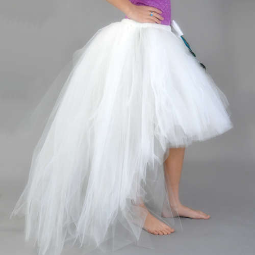 Cream High-Low Tutu Skirt