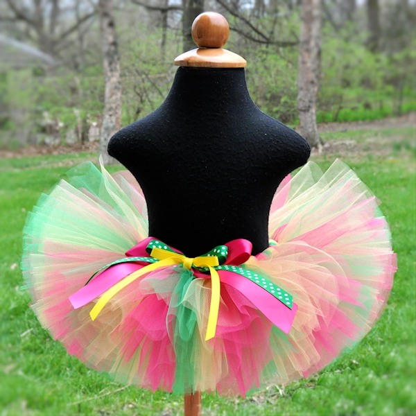 Yellow Hot Pink Green Tutu