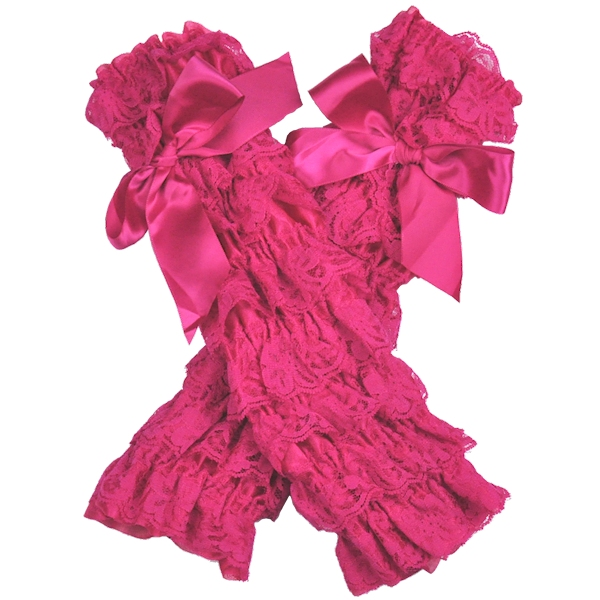 Hot pink Lace Petti Leg Warmers