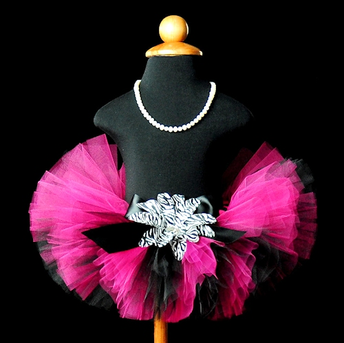 Darling Diva Black and Hot Pink Tutu