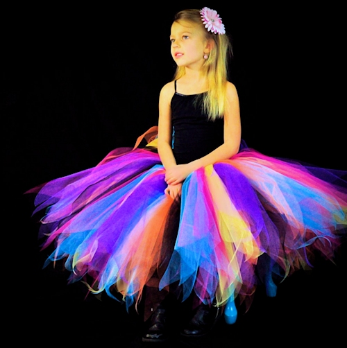 Glam Girl Rock Star Long Tutu