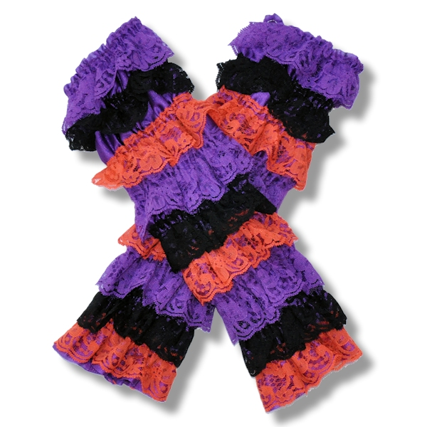 Halloween Lace Petti Leg Warmers