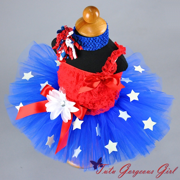 American Blue Tutu with Stars - Liberty Tutu