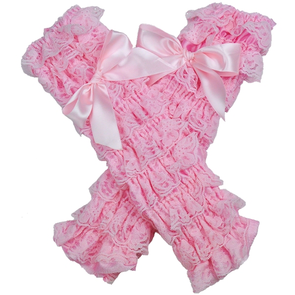 Light Pink Petti Lace Leg Warmers