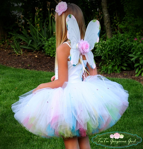 Magic Rainbow Fairy Tutu and Wings