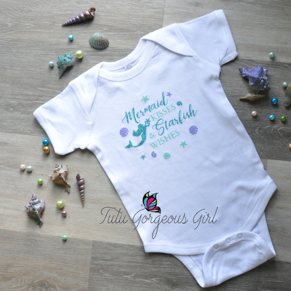 Girls Mermaid Kisses Bodysuit