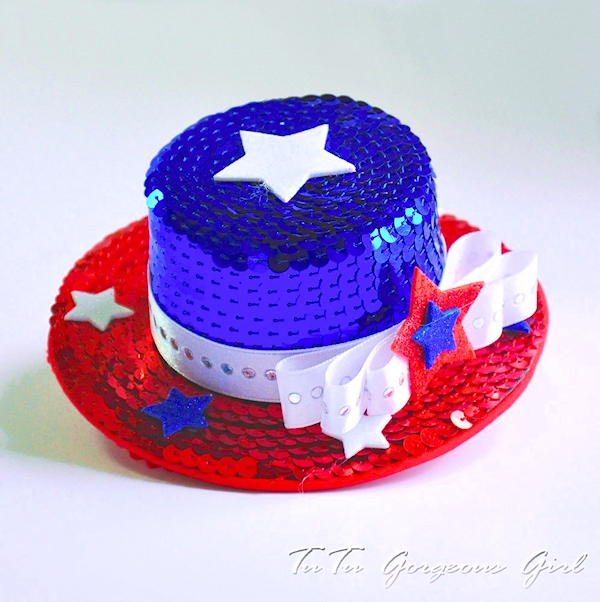 Miss Liberty Mini Top Hat