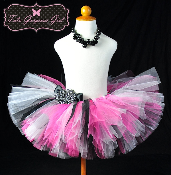 Paris Pink and Black Tutu