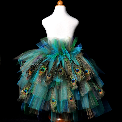 Adult Peacock Feather Bustle Tutu