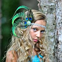 Silver Peacock Headpiece