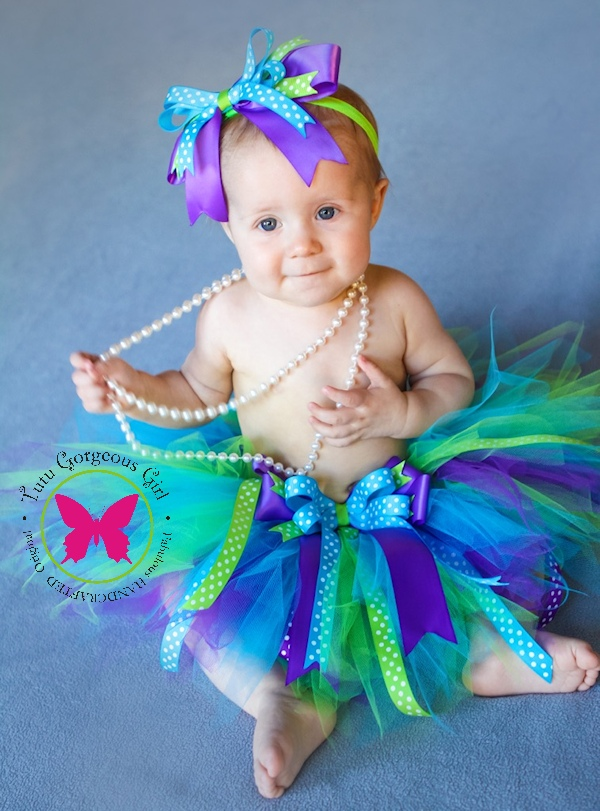 Peek-A-BOO Turquoise Purple Lime Tutu