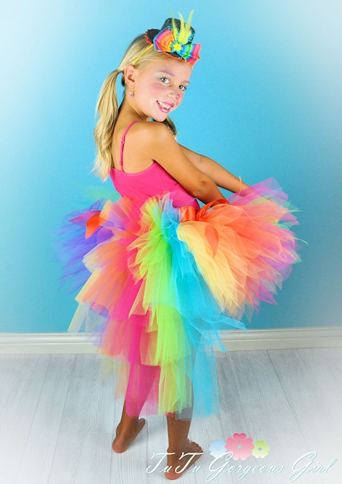 Pixie Candy Rainbow Bustle Tutu