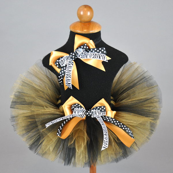 Black Gold Sports Team Tutu