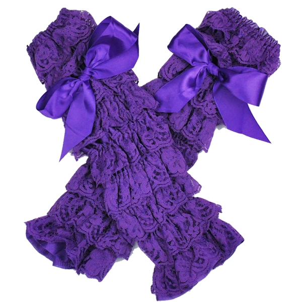 Purple Lace Petti Leg Warmers