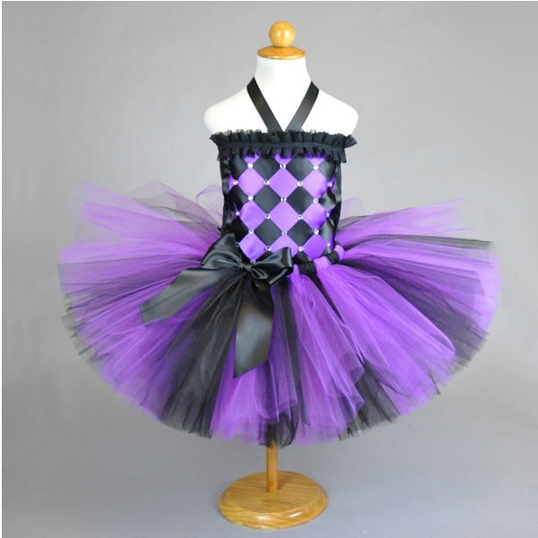 Purple Black Diva Birthday Costume