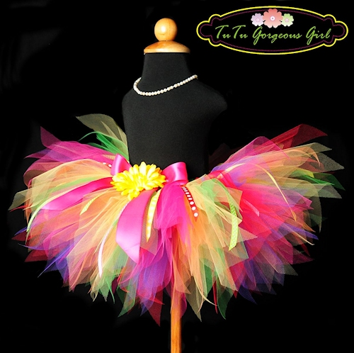 Rainbow Party Ribbon Tutu