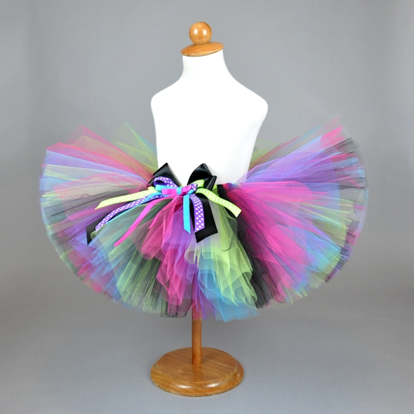 Rocker Girl Tutu w/Layered Bow
