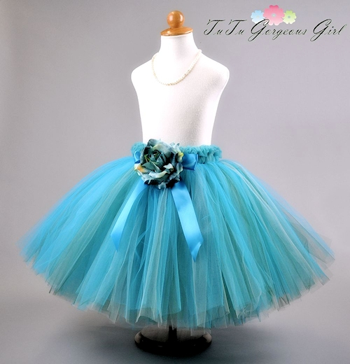 Siren's Song Turquoise Long Tutu