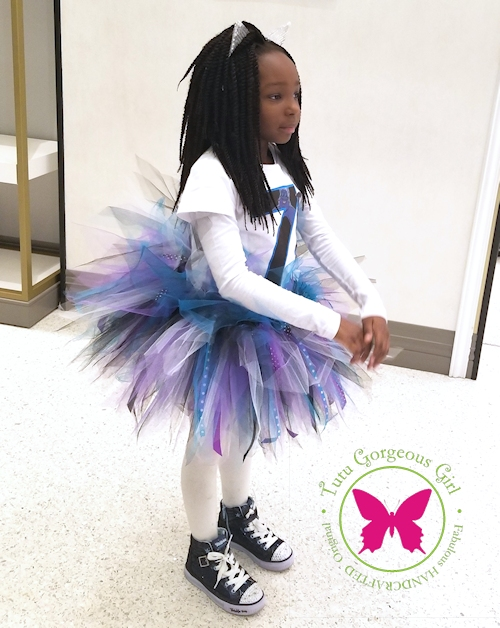 Black, Purple, Turquoise, White Tutu
